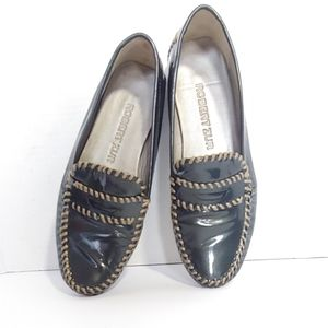 Robert Zur patent leather driving loafers